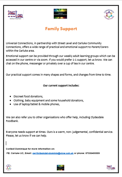UC and CCC family support